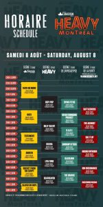 Heavy Montréal Schedule - 2015 - Saturday