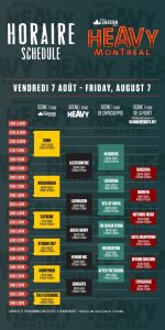 Heavy Montréal Schedule - 2015 - Friday