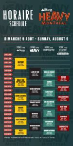 Heavy Montréal Schedule - 2015 - Sunday